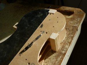 Hoekblokken cello aftekenen met sjabloon